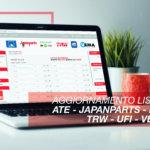 AGGIORNAMENTO ATE JAPANPARTS LUK TRW UFI VEMA